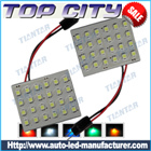 Topcity 24-SMD 3528 4*6 CM LED PCB Panel Lights, Dome Lights, Interior Panel Lights,Accent Lights - Car LED Interior Panel Lights