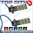 Topcity 12-SMD 5050 360-degree shine H3 Hyper Flux LED Bulbs For Fog Lights or Running Light Lamps - Fog Lights car led, Auto LED