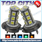 Topcity 18-SMD 5050 360-degree shine H7 Hyper Flux LED Bulbs For Fog Lights or Running Light Lamps - Fog Lights car led, Auto LED