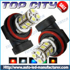 Topcity 13-SMD 5050 360-degree shine H8 Hyper Flux LED Bulbs For Fog Lights or Running Light Lamps - Fog Lights car led, Auto LED