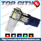 Newest Topcity T10 5SMD 5050 18LM Cold white - T10 LED