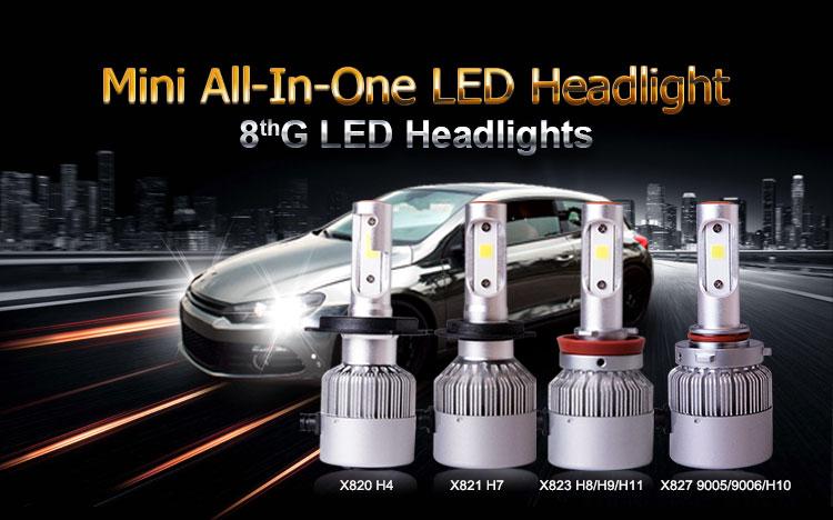 topcity make g8 philips 120w X820 H4-3 HI/LO led headlightm