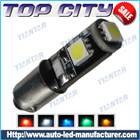 Topcity Newest Euro Error Free Canbus BA9S 3SMD 5050 Canbus 18LM Cold white - Canbus led