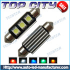 Topcity Newest Euro Error Free Canbus Festoon 211 2SMD 5050 Canbus 18LM Cold white - Canbus LED