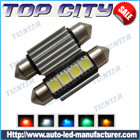Topcity Newest Euro Error Free Canbus Festoon 211 4SMD 5050 Canbus 18LM Cold white - Canbus LED