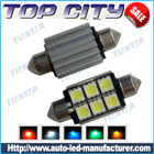 Topcity Newest Euro Error Free Canbus Festoon 211 6SMD 5050 Canbus 18LM Cold white - Canbus LED