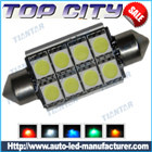 Topcity Newest Euro Error Free Canbus Festoon 211 8SMD 5050 Canbus 18LM Cold white - Canbus LED