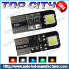 Topcity Newest Euro Error Free Canbus T10 2SMD 5050 Canbus 18LM Cold white - Canbus led
