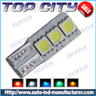 Topcity Newest Euro Error Free Canbus T10 3SMD 5050 Canbus 18LM Cold white - Canbus led