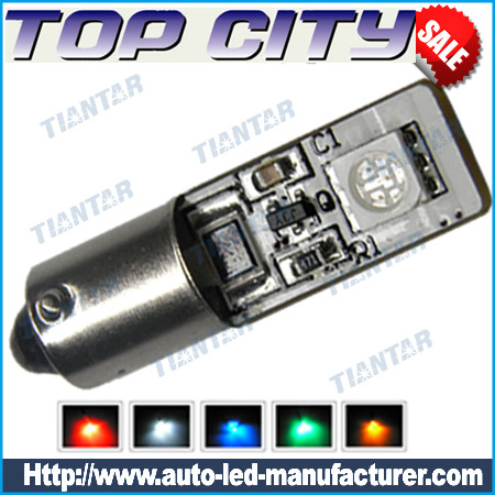 Topcity Euro Error Free 2-SMD-5050 BA9S 64132 H6W LED      Bulbs- Canbus led