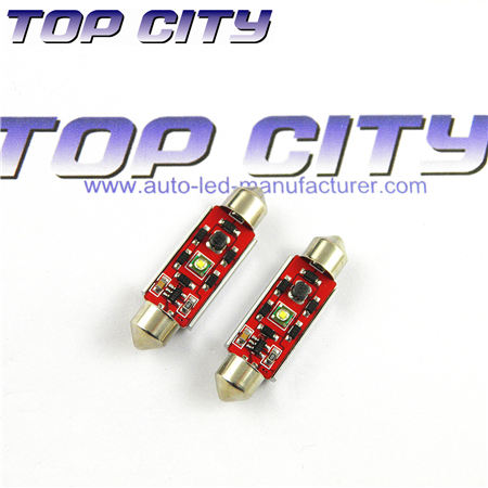 Topcity Newest Euro Error Free Canbus Festoon 1 HIGH Power cree R3 Canbus 36mm Cold white - Canbus LED