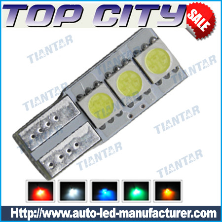 Topcity Euro Error Free 3-SMD-5050 T10 2825 W5W LED      Bulbs - Canbus led