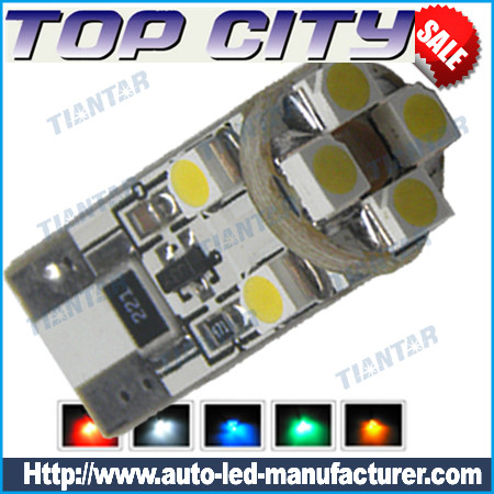 Topcity Newest Euro Error Free Canbus T10 8SMD 3528 Canbus 7LM Cold white - Canbus led